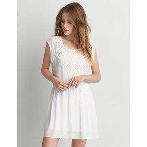 AEO White Eyelet Summer Little White Dress